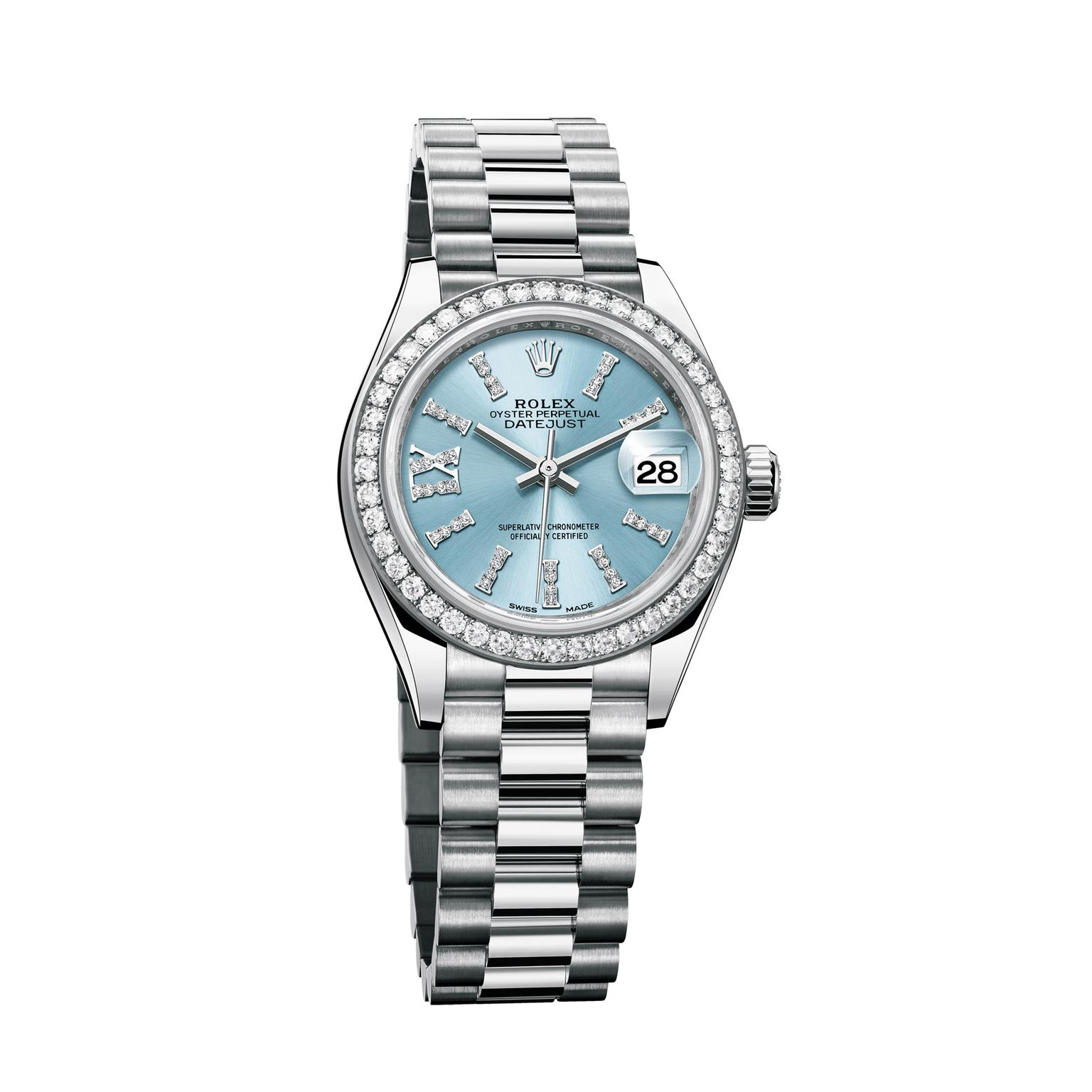 Rolex Lady-Datejust watch 28mm in platinum