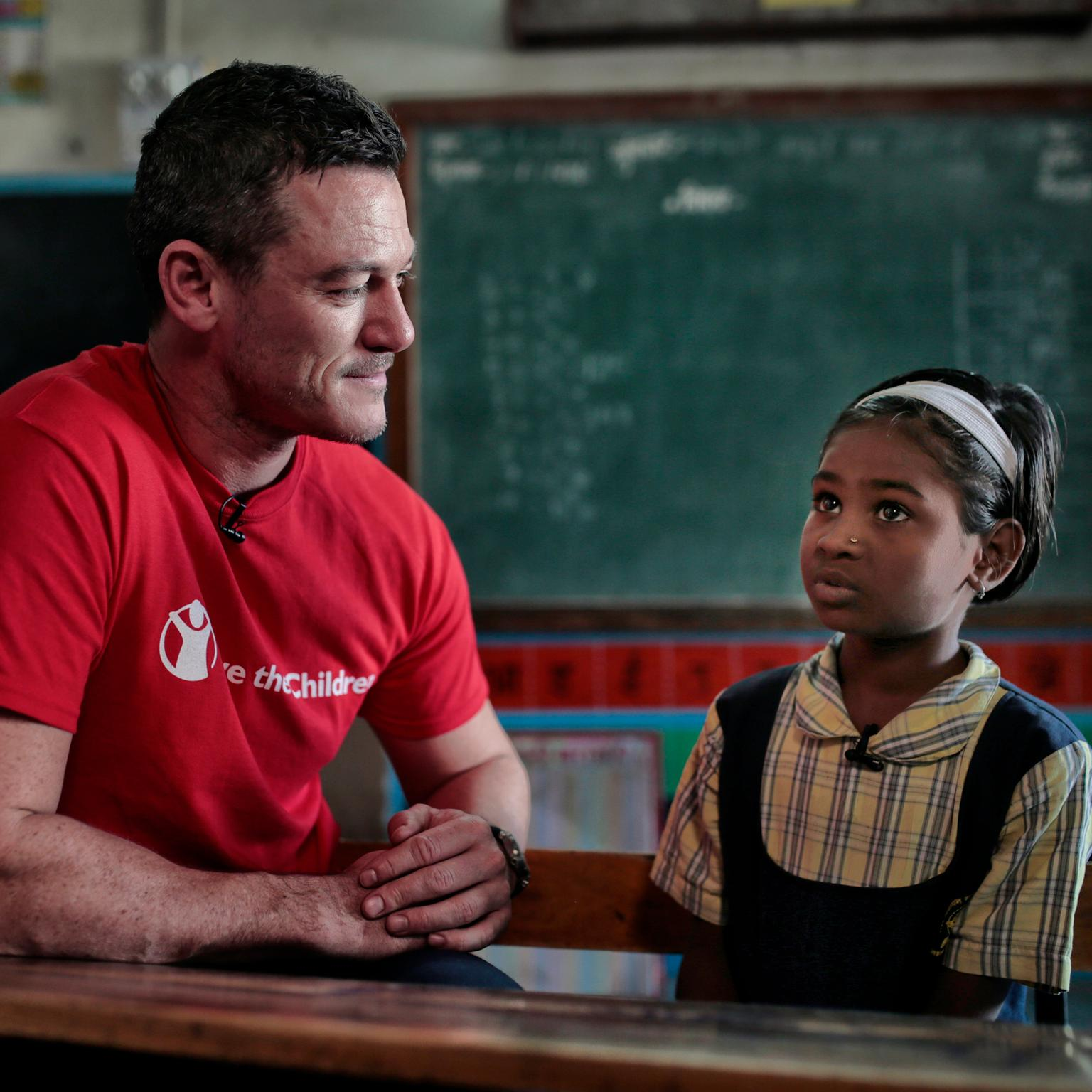 Luke Evans visits India as part of Bulgari's raise your hand campaign.