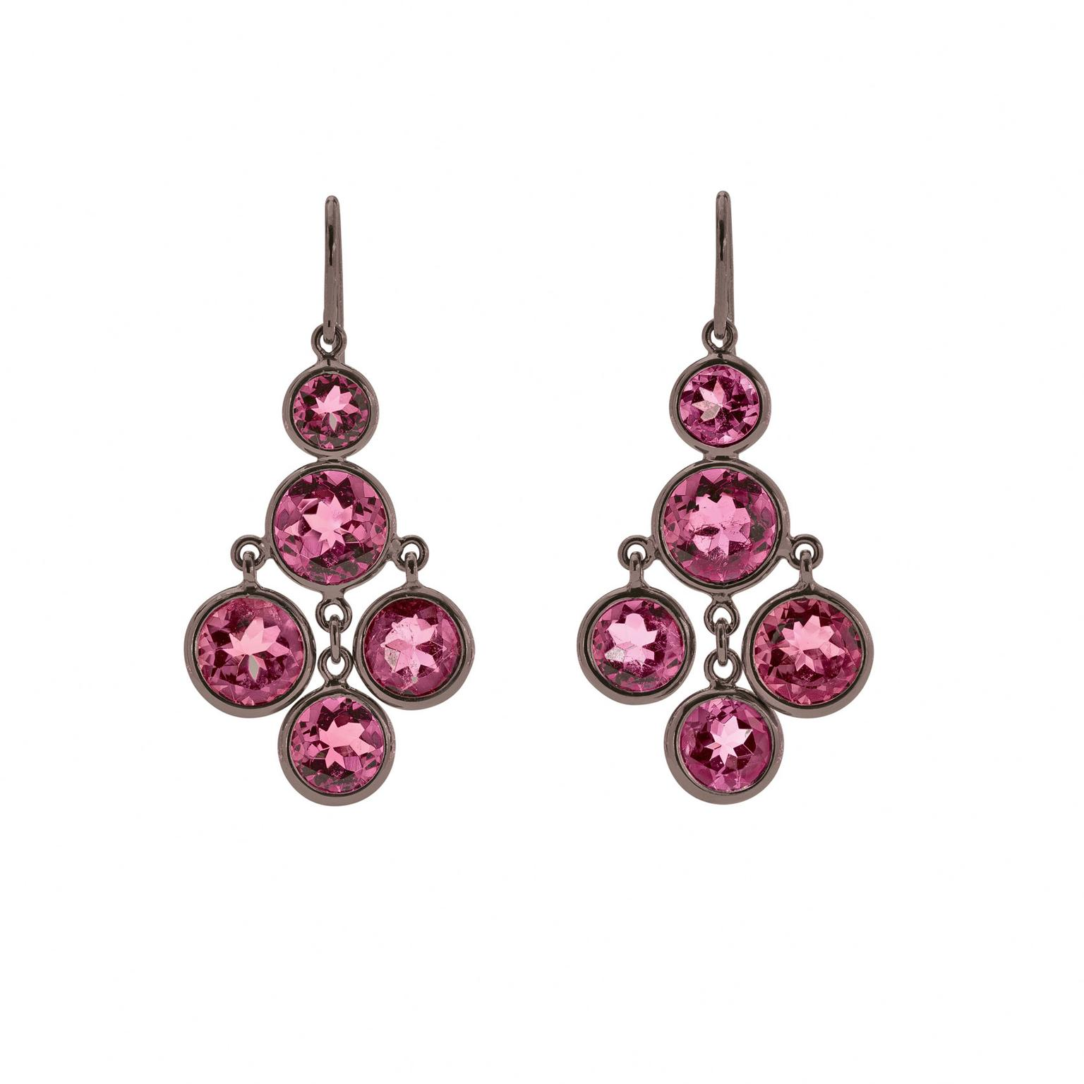 Solange Azagury-Partridge Darling Rose pink tourmaline earrings