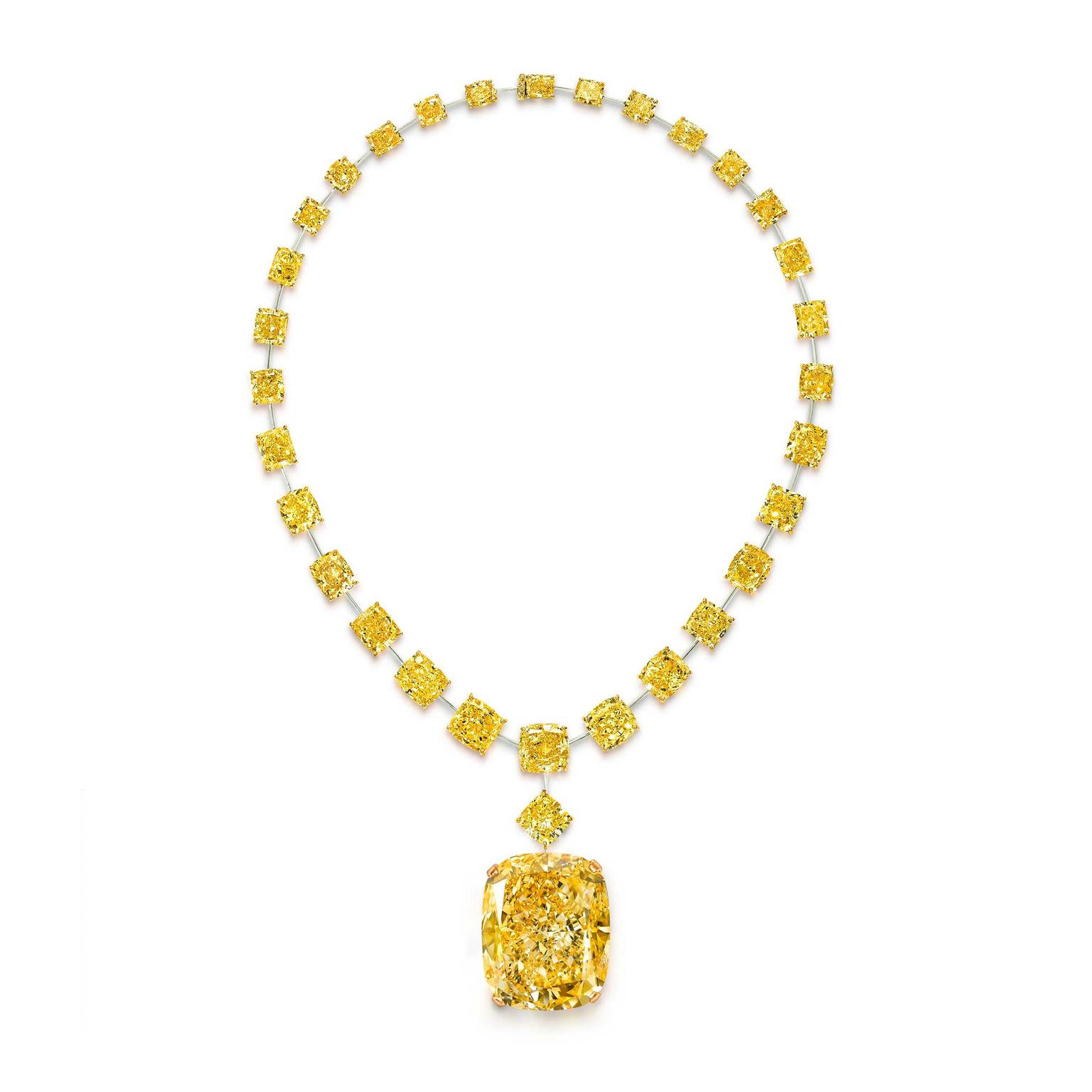 Graff Golden Empress yellow diamond necklace