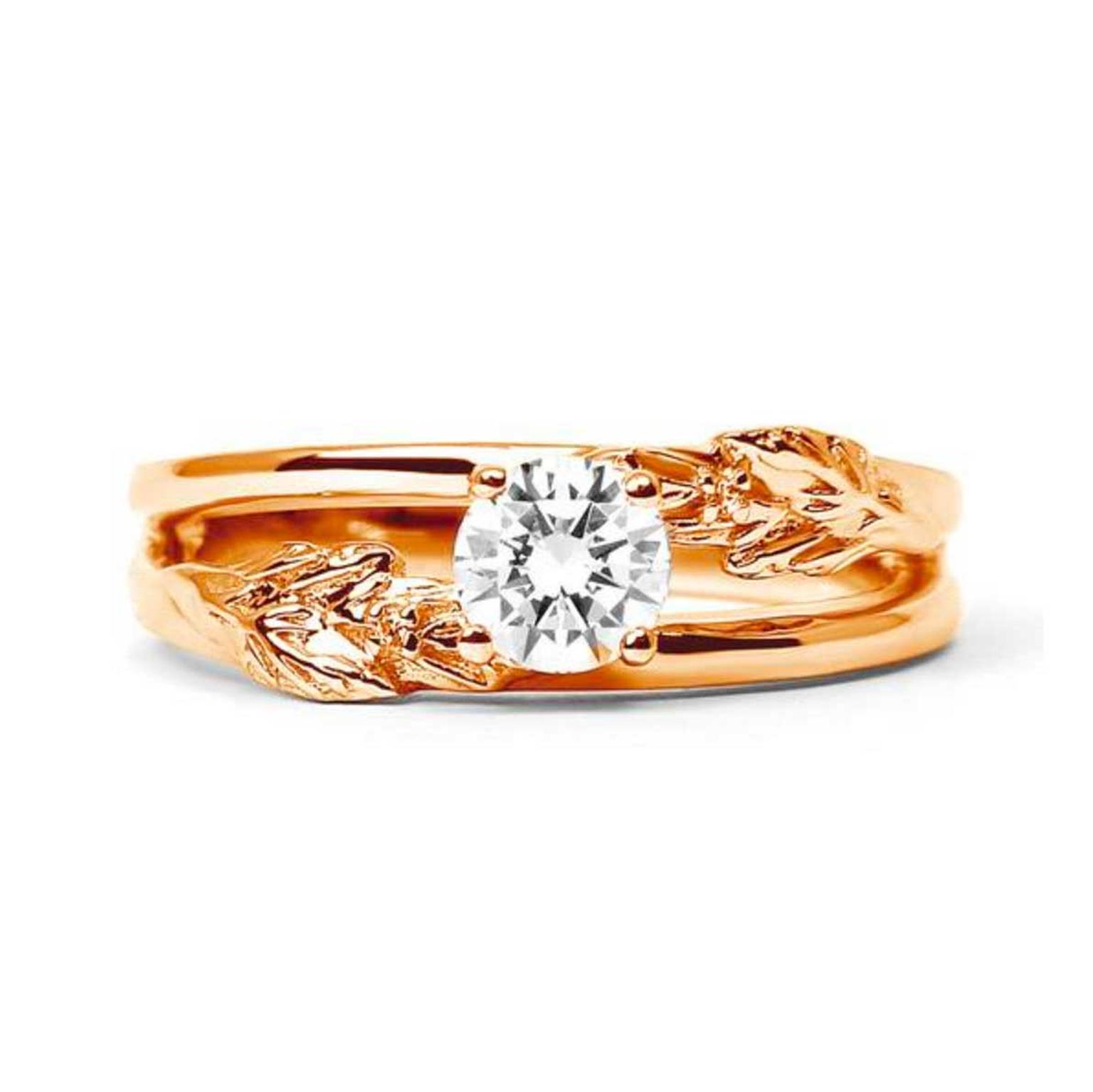 Arabel Lebrusan Royal Oak ethical diamond engagement ring in Fairtrade gold