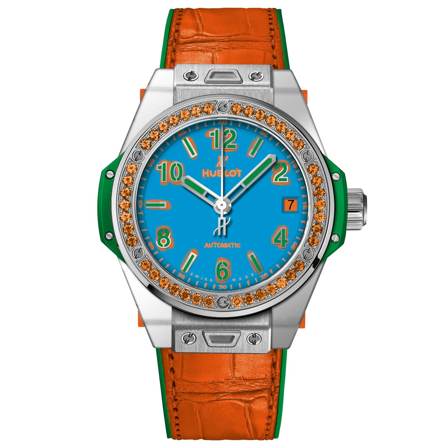 Hublot Big Bang One Click Pop Art Steel Orange watch