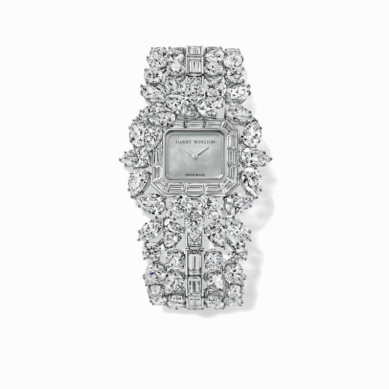 Harry Winston Emerald Cluster watch