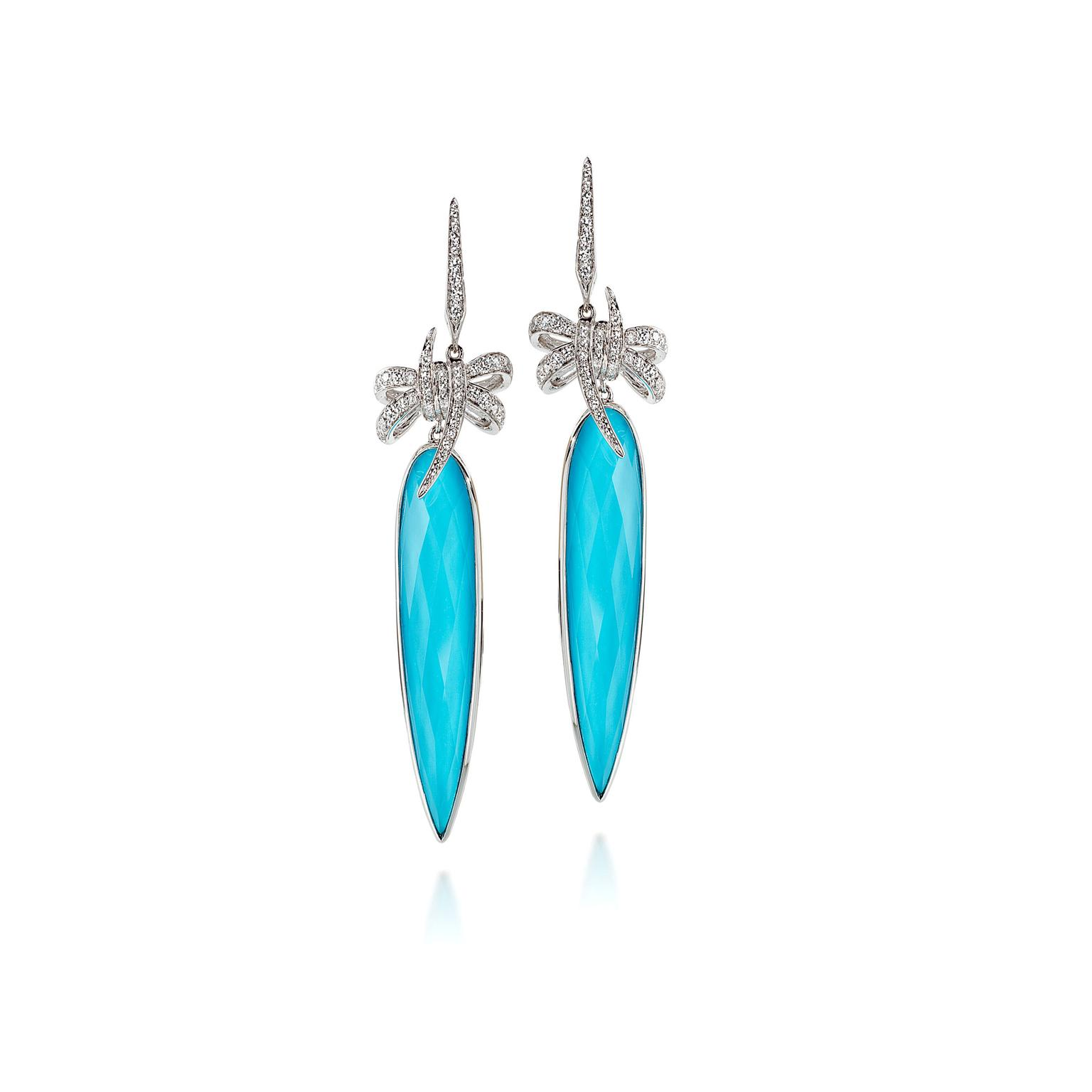 Stephen Webster Forget Me Knot bow crystal haze dagger earrings