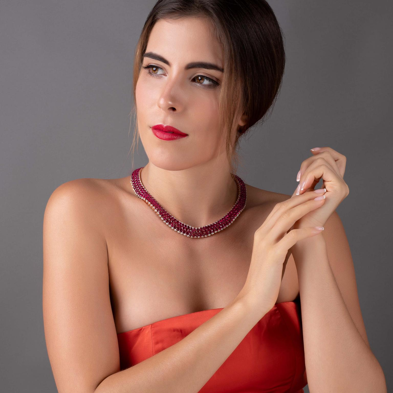 STENZHORN UNA ruby necklace