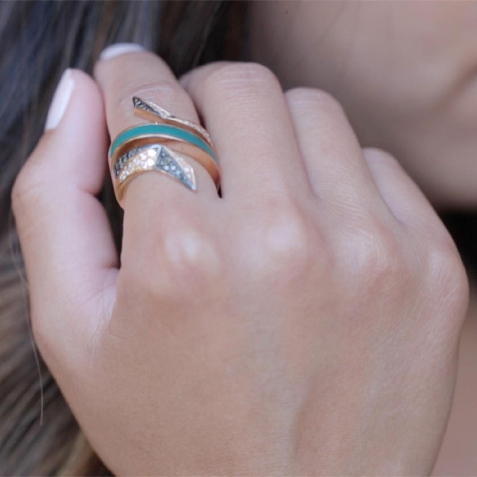 Octium Twist Collection turquoise ring