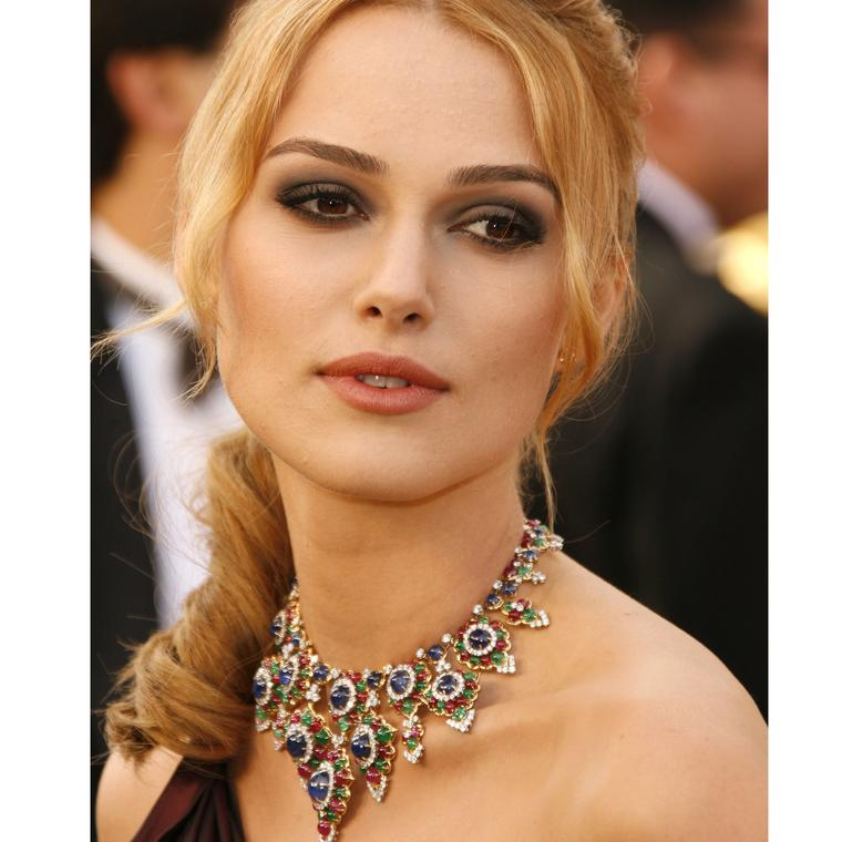 Keira Knightley wearing Bulgari