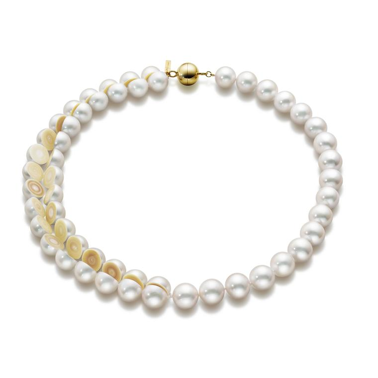 MG Tasaki Sliced pearl necklace