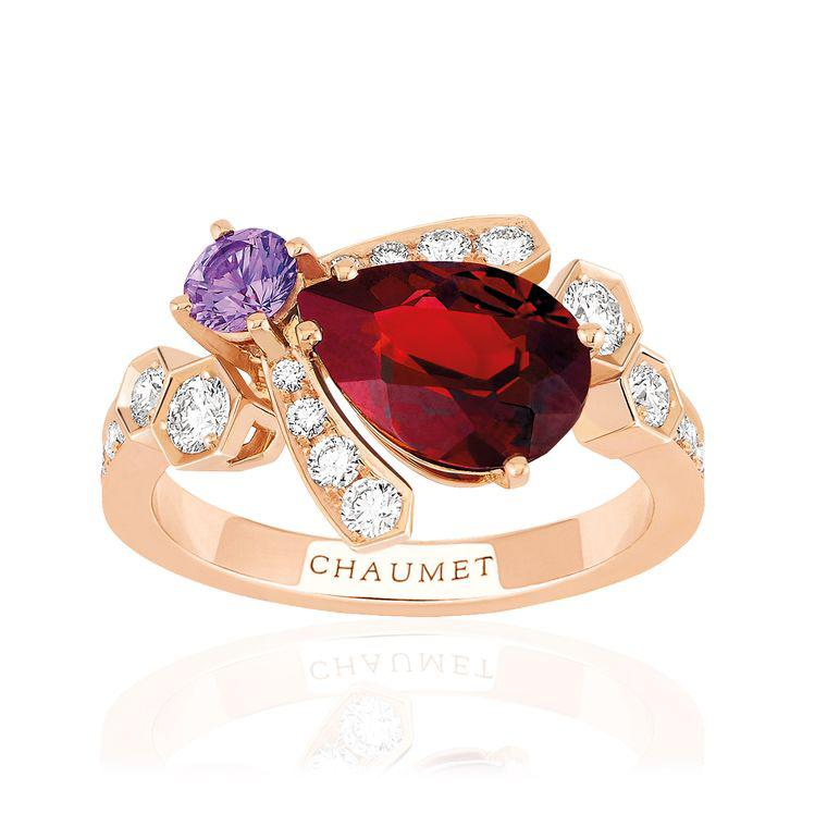Bee My Love garnet ring