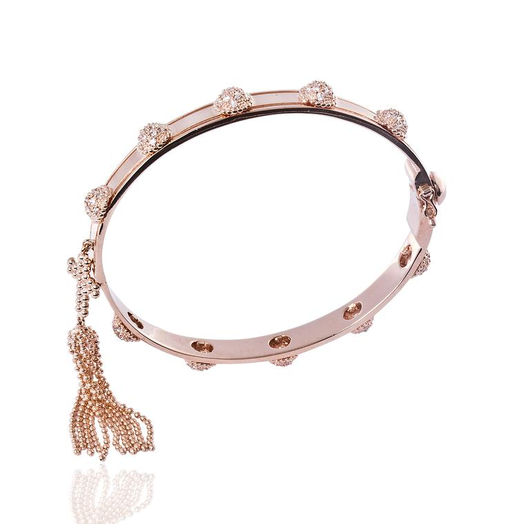 Terço diamond bangle in rose gold