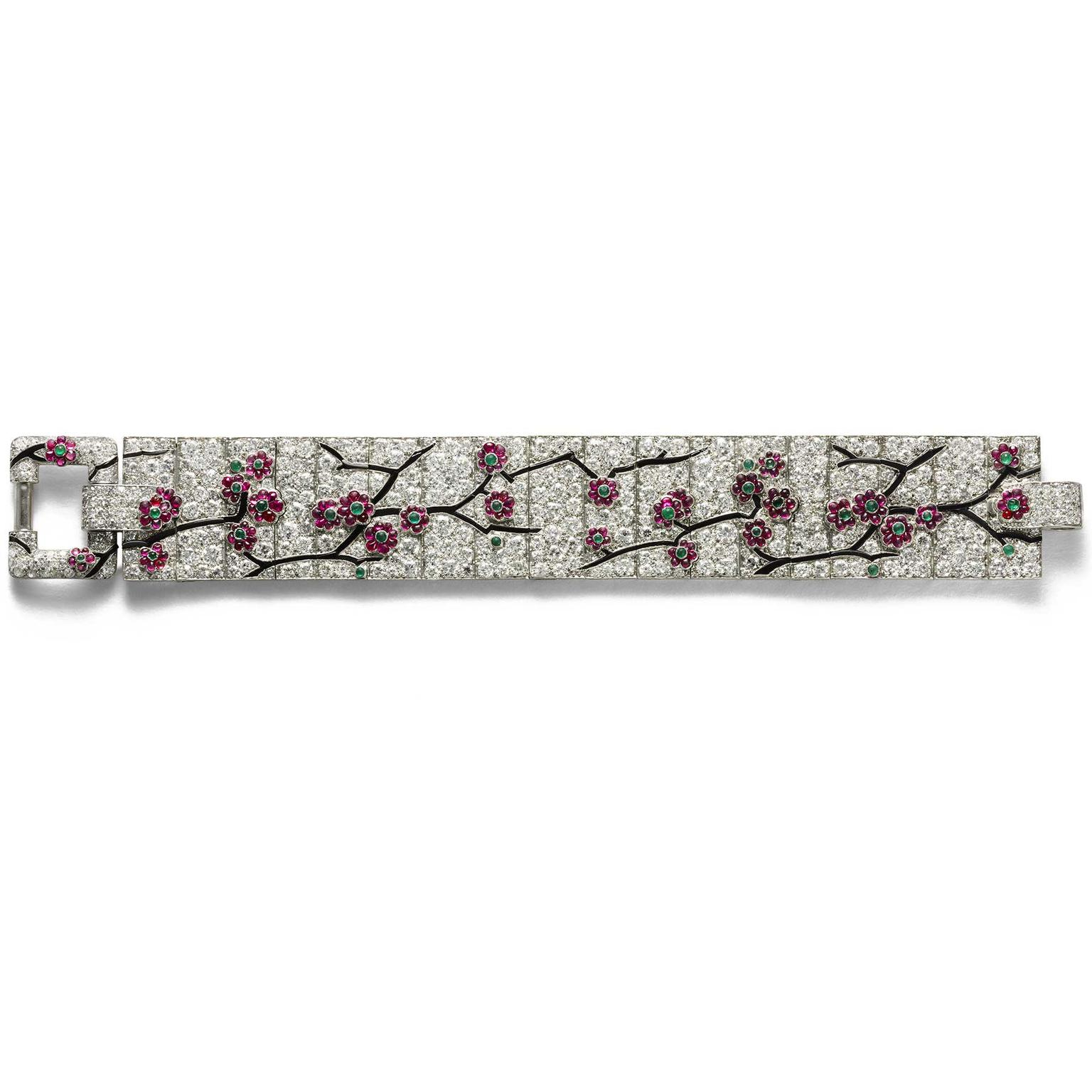 Cartier Collection cherry blossom bracelet, 1925