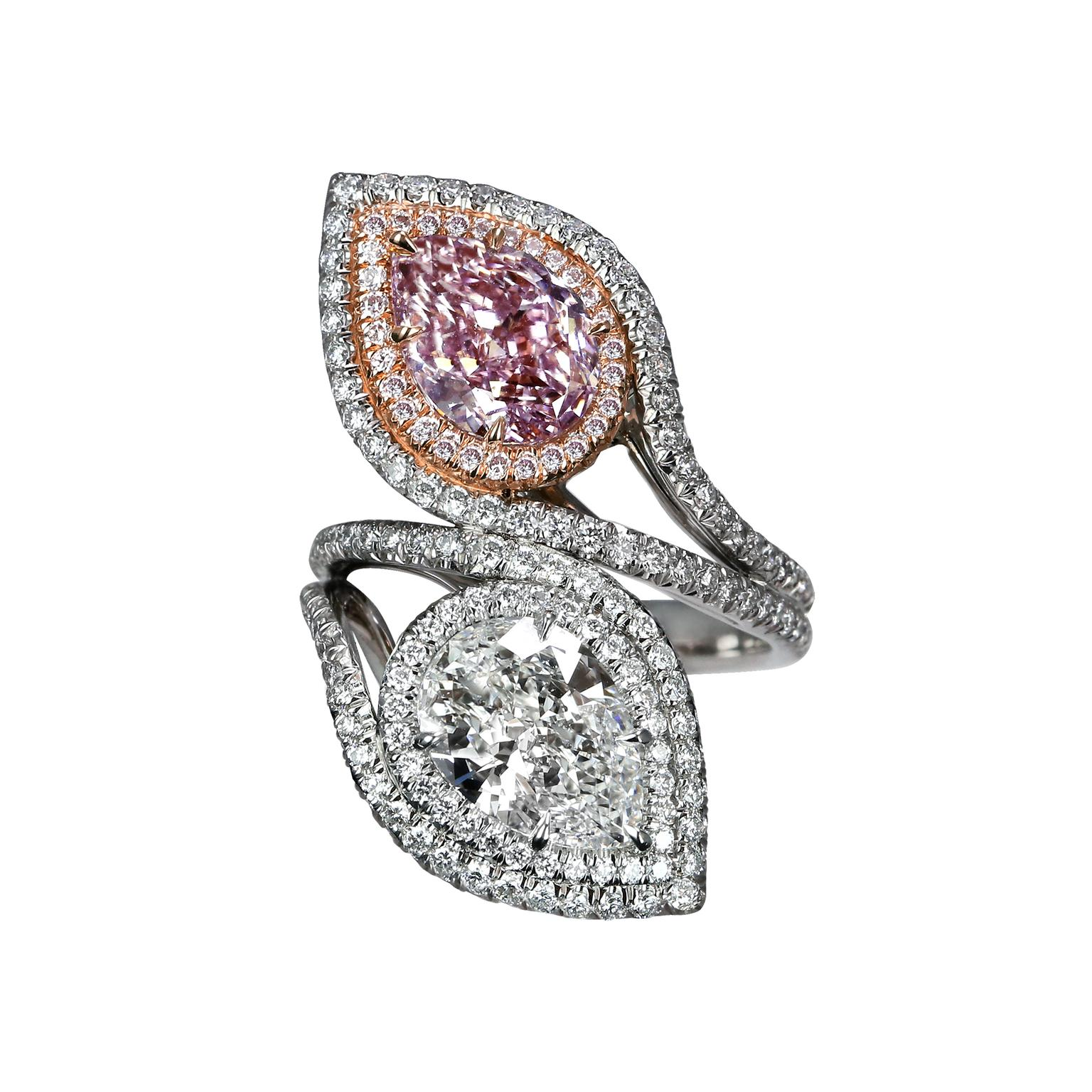 Jacob and co pink diamond ring