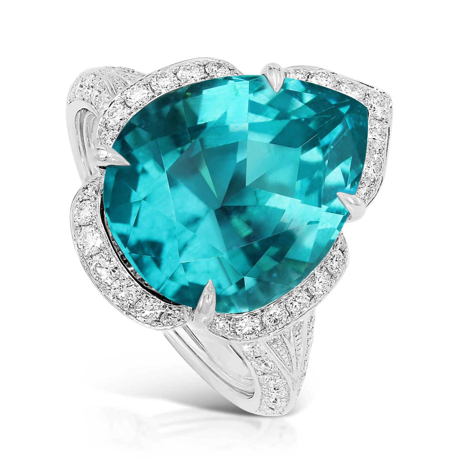 Kat Florence pear-cut apatite ring