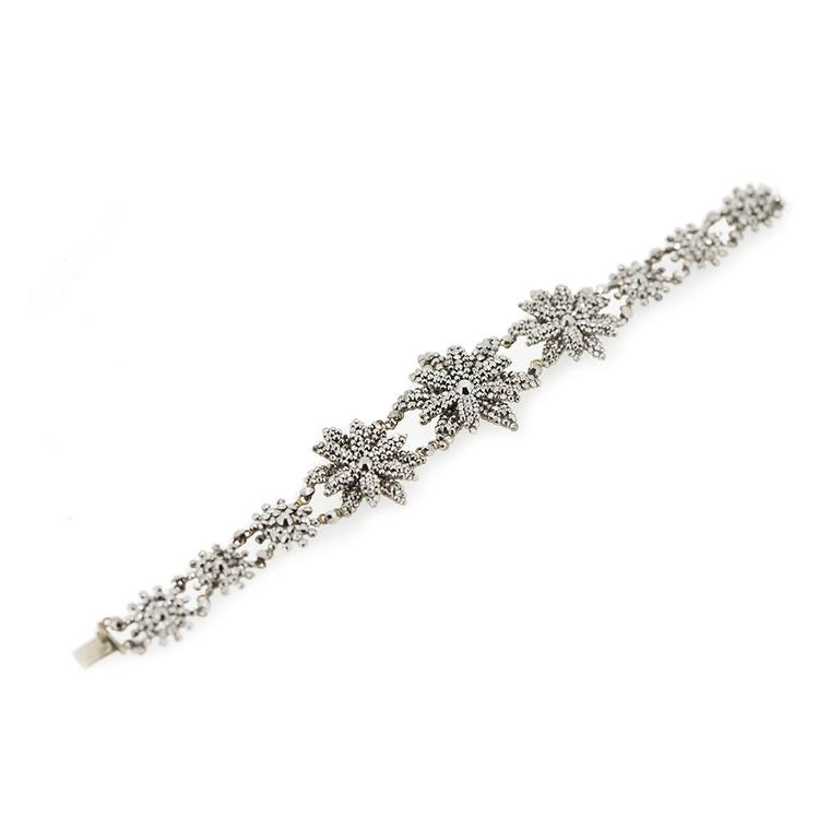 Lowther Antiques cut-steel flower bracelet