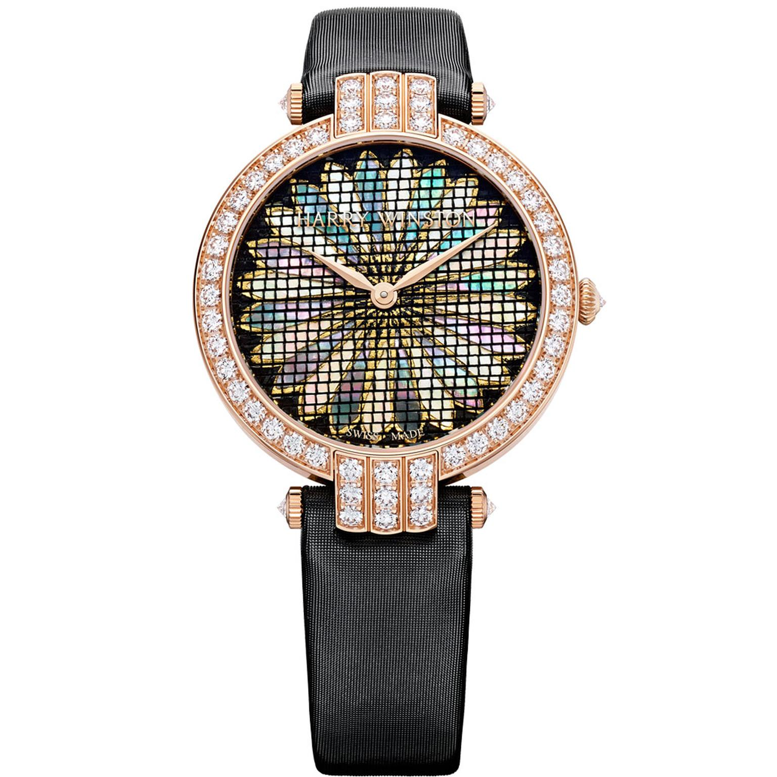 Harry Winston Premier Precious Weaving chrysanthemum watch