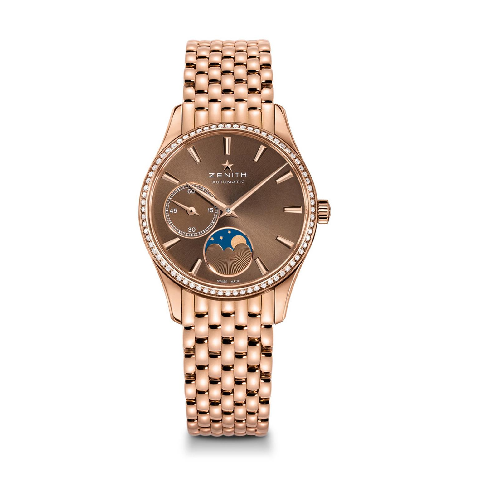 Zentih Ultra Thin Lady Moon phase watch