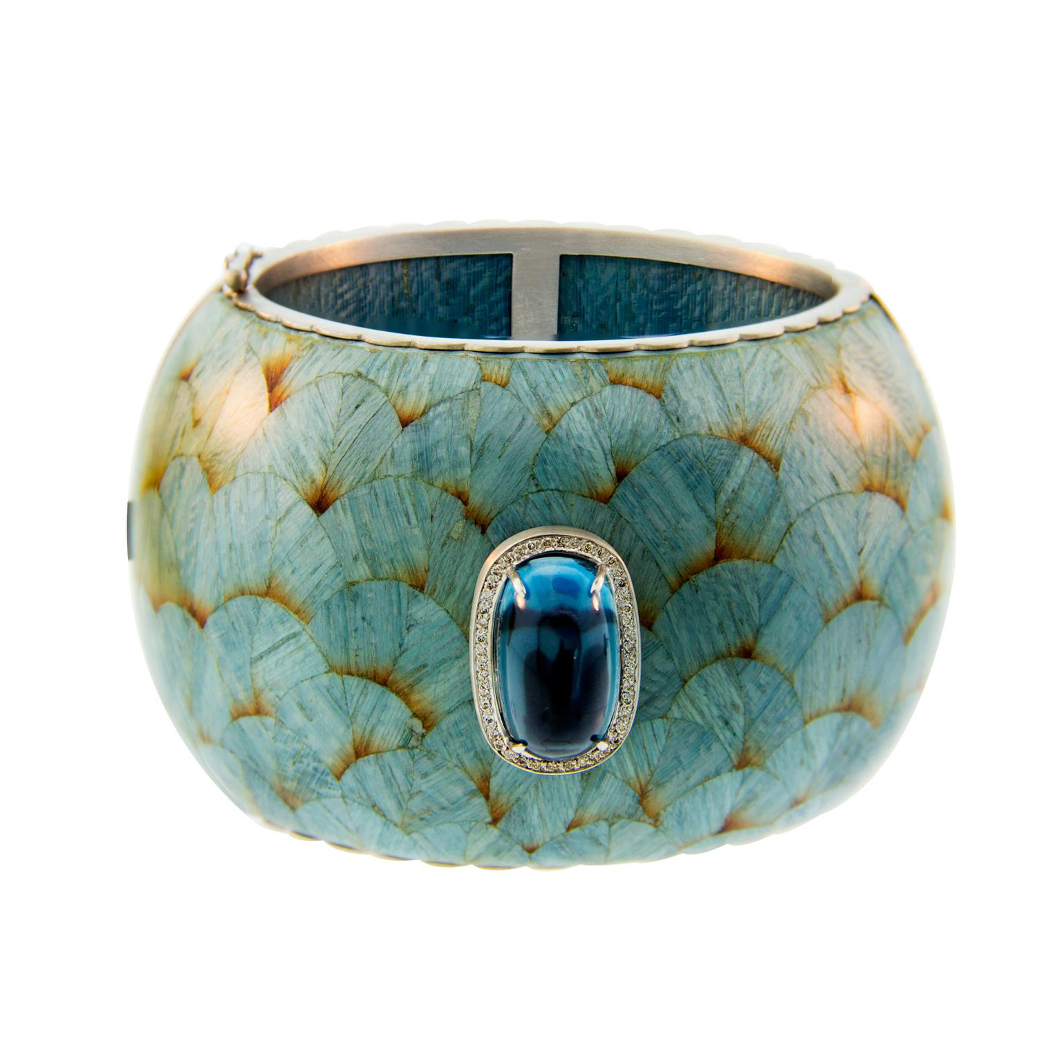 Silvia Furmanovich exotic wood cuff
