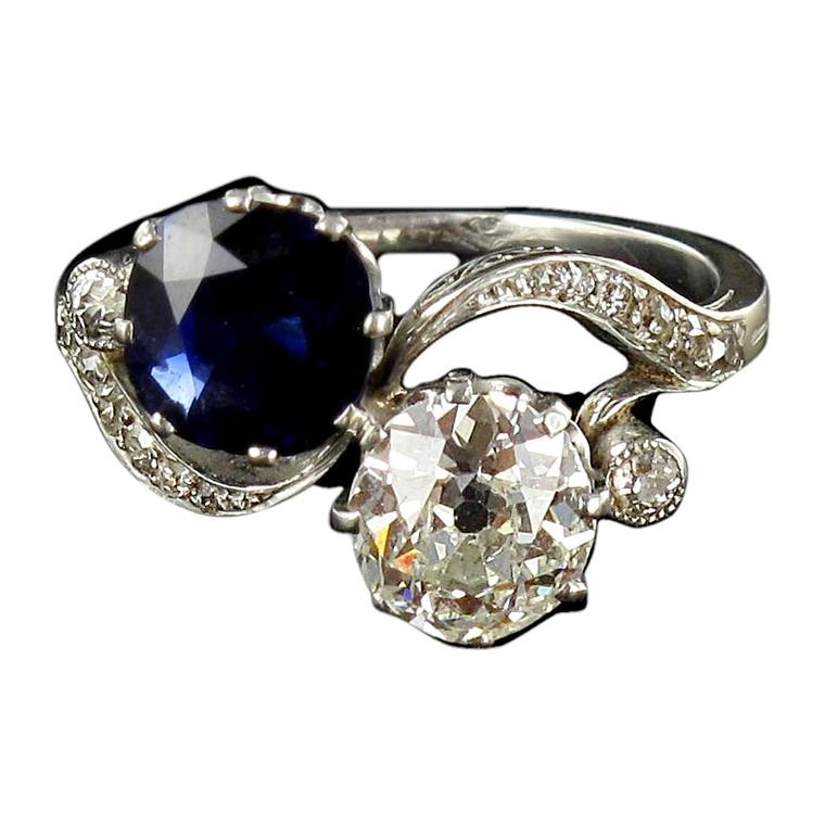 Baume sapphire and diamond ring