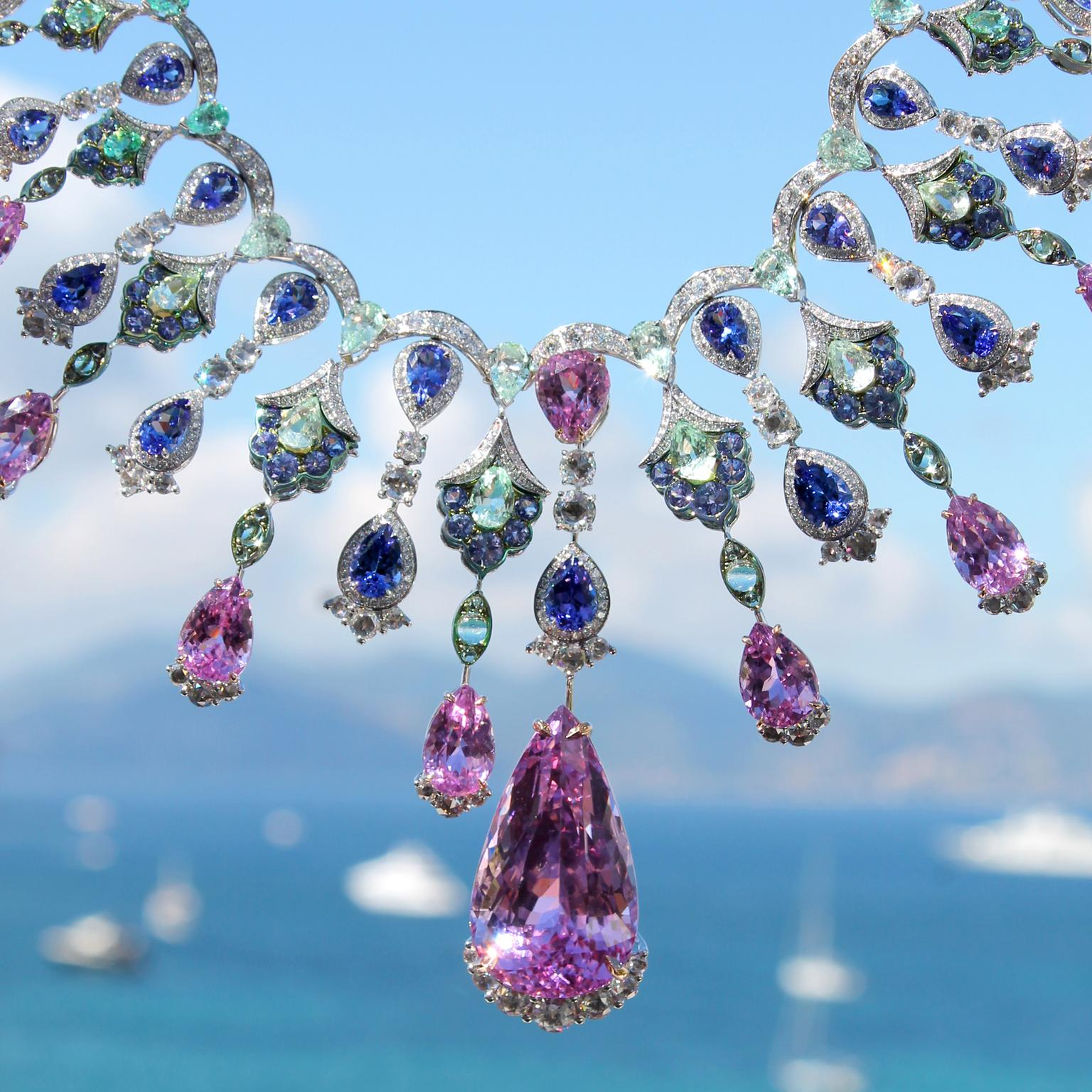 Chopard kunzite necklace