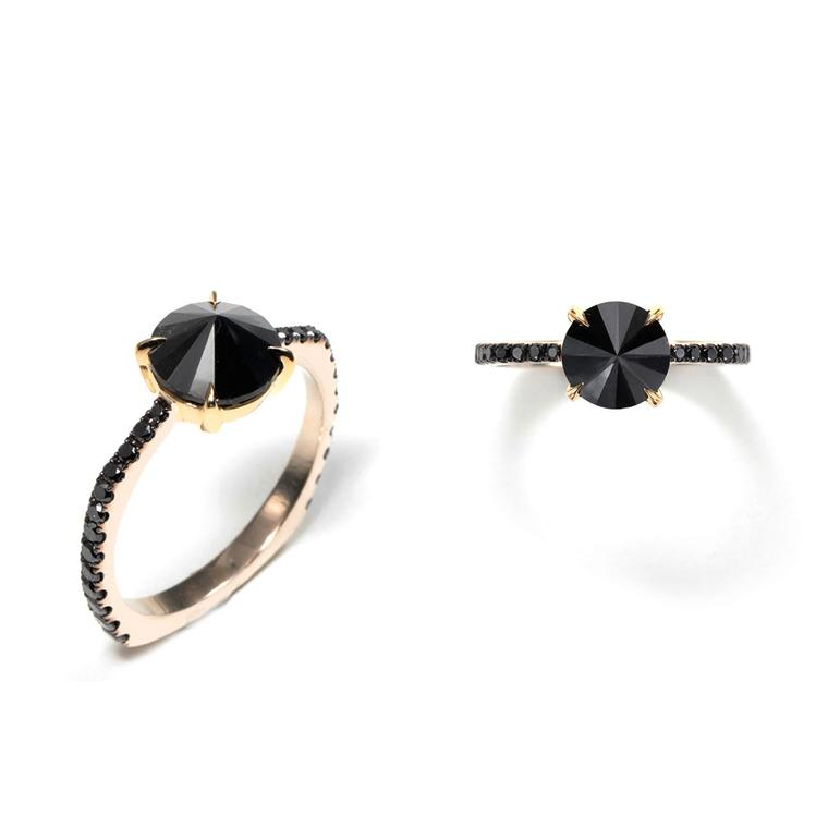 Ara Vartanian black diamond engagement ring