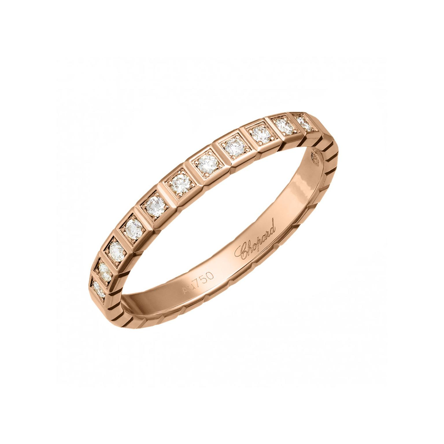 Chopard rose gold and diamond wedding band