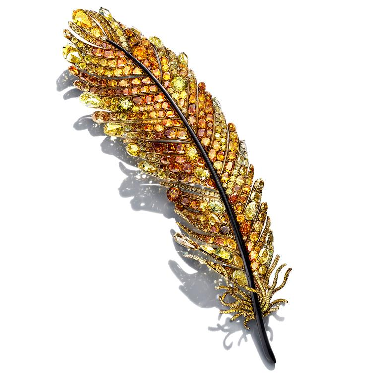 Cindy Chao The Art Jewel 2016 Black Label Masterpiece Phoenix Feather brooch