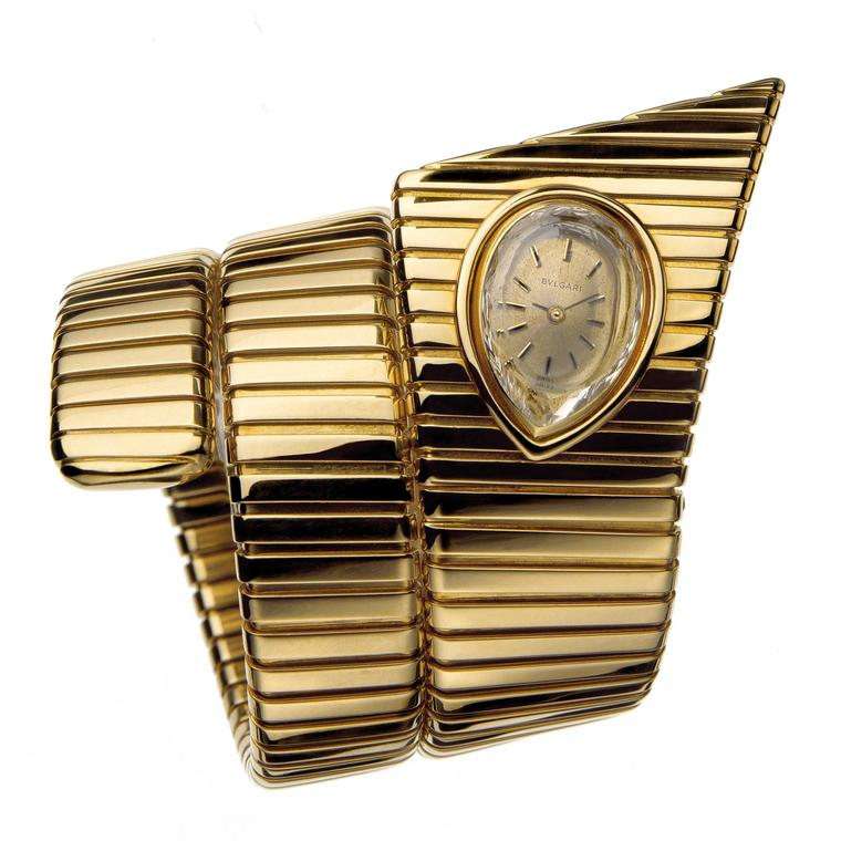 Bulgari Tubogas watch in yellow gold that was in production period in 1972