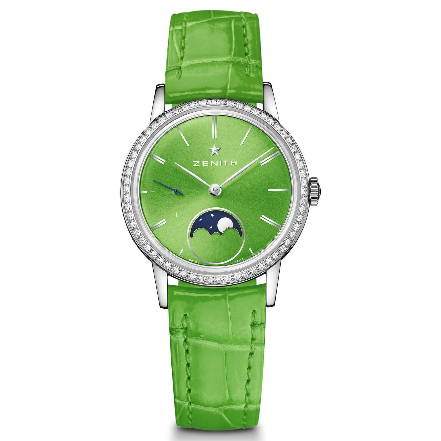 Zenith Elite Lady Moonphase apple green
