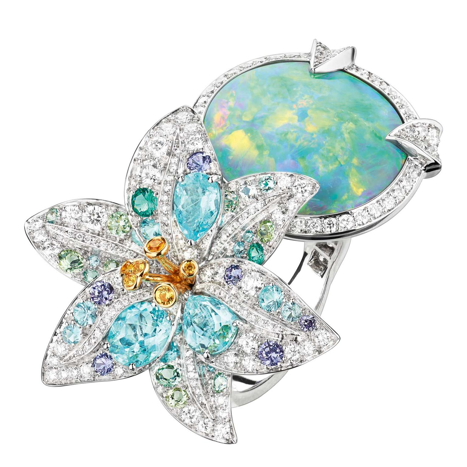 La Nature de Chaumet high jewellery Australian black opal ring