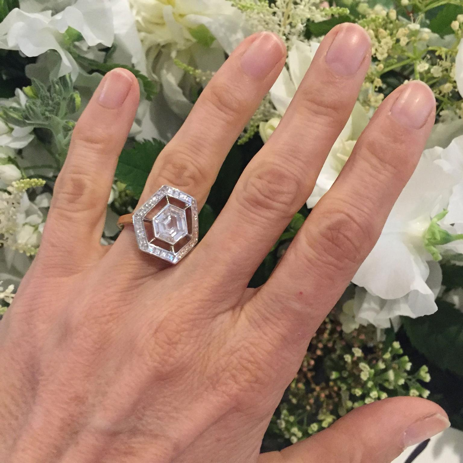 Jessica McCormack Space Odyssey diamond engagement ring