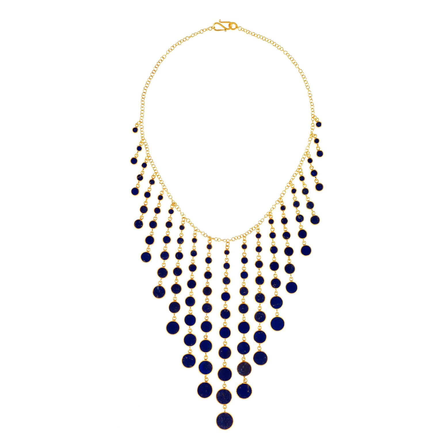 Pippa Small gold-plated silver and lapis lazuli necklace