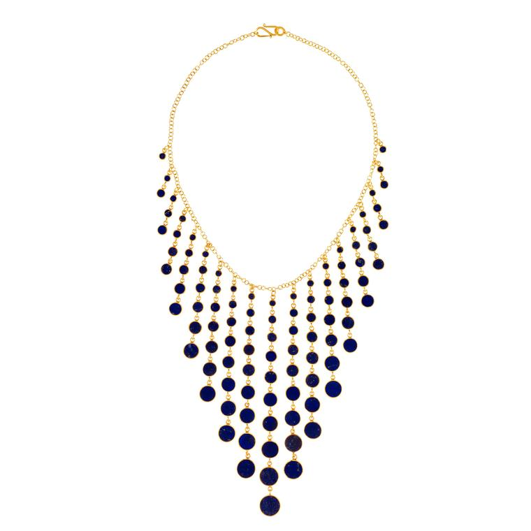 Pippa Small gold vermeil and lapis lazuli necklace