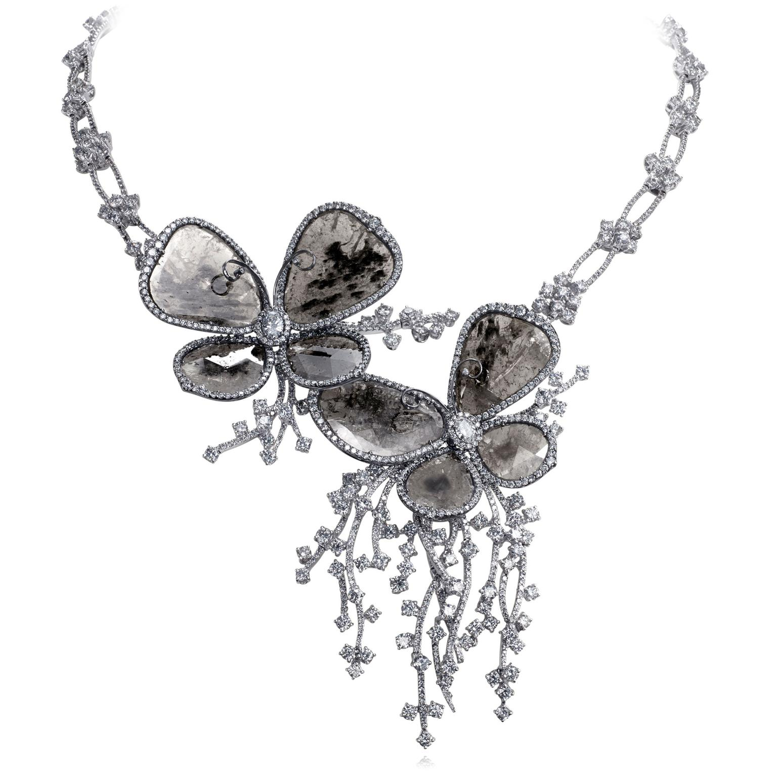 Nina Runsdorf Butterfly diamond necklace
