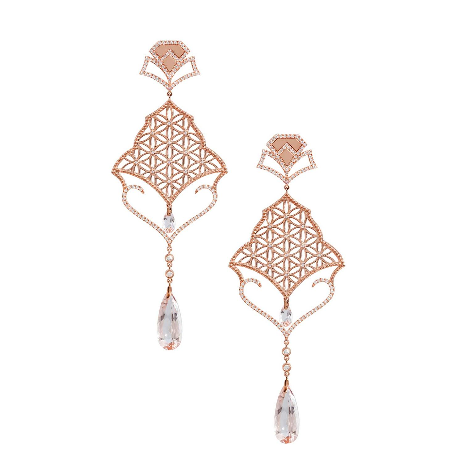 Dionea Orcini Semiramis rose gold earrings