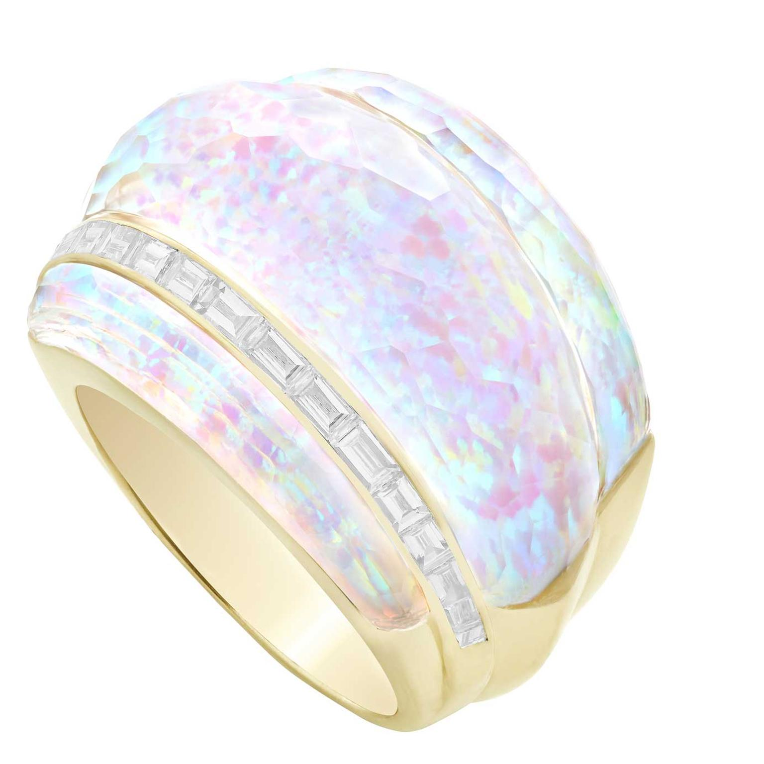 Stephen Webster CH2 cocktail ring opal and diamonds