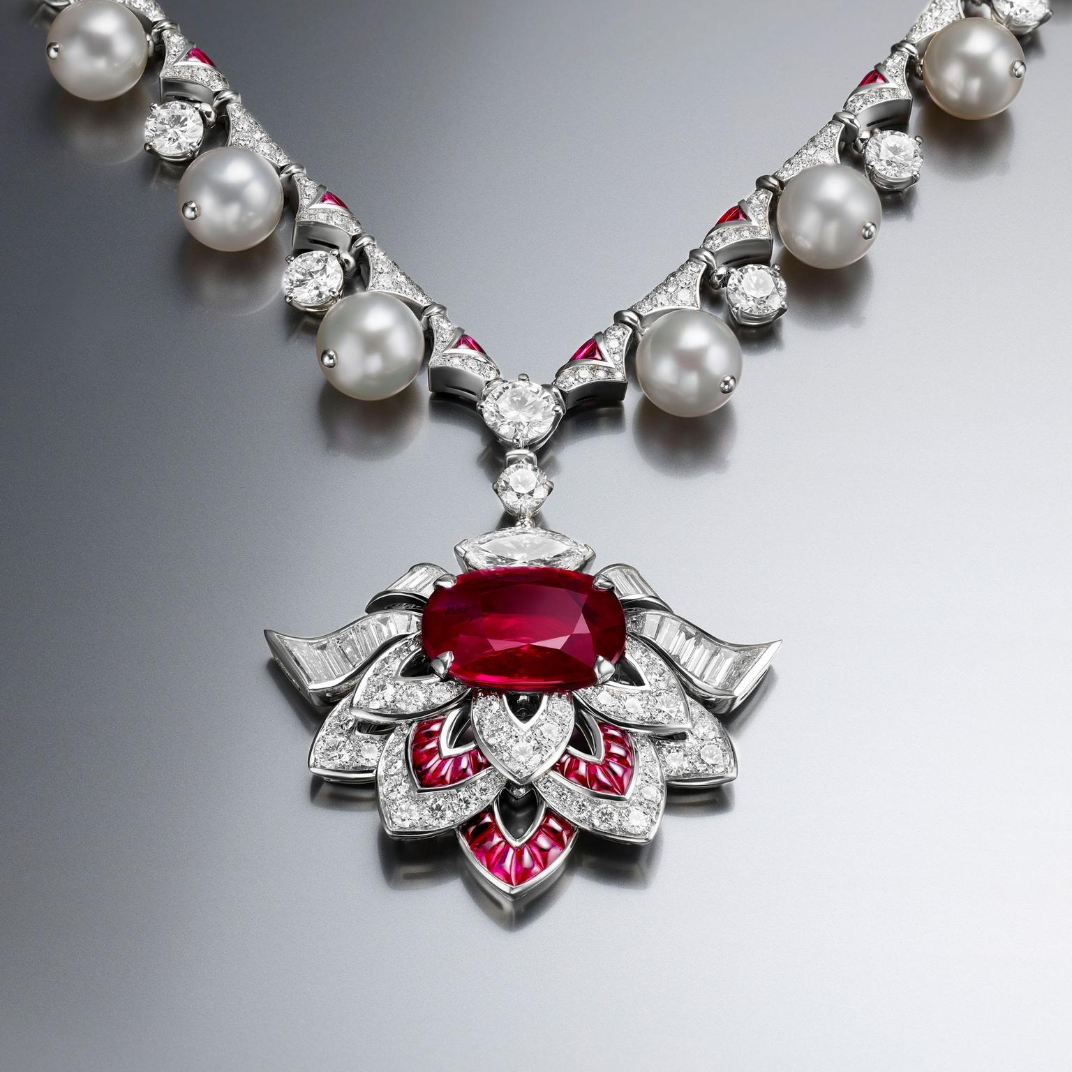 product ruby eshaal fashion set necklace silver with tika