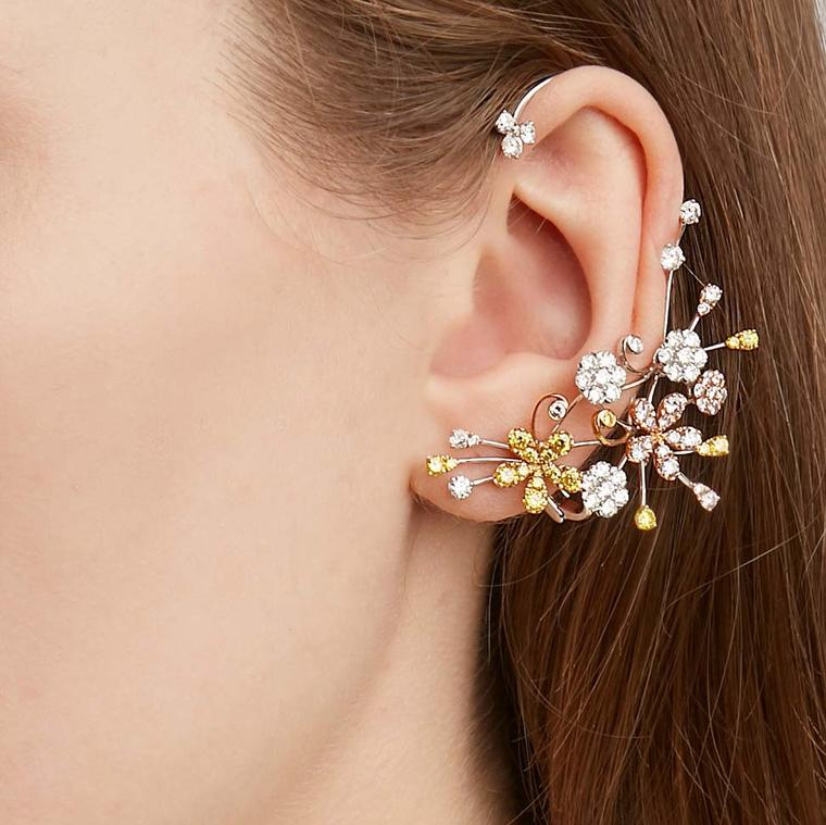 David Morris Cherry Blossom ear cuff