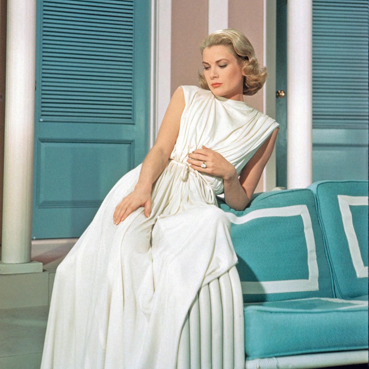 Cartier emerald-cut diamond engagement ring worn by Grace Kelly