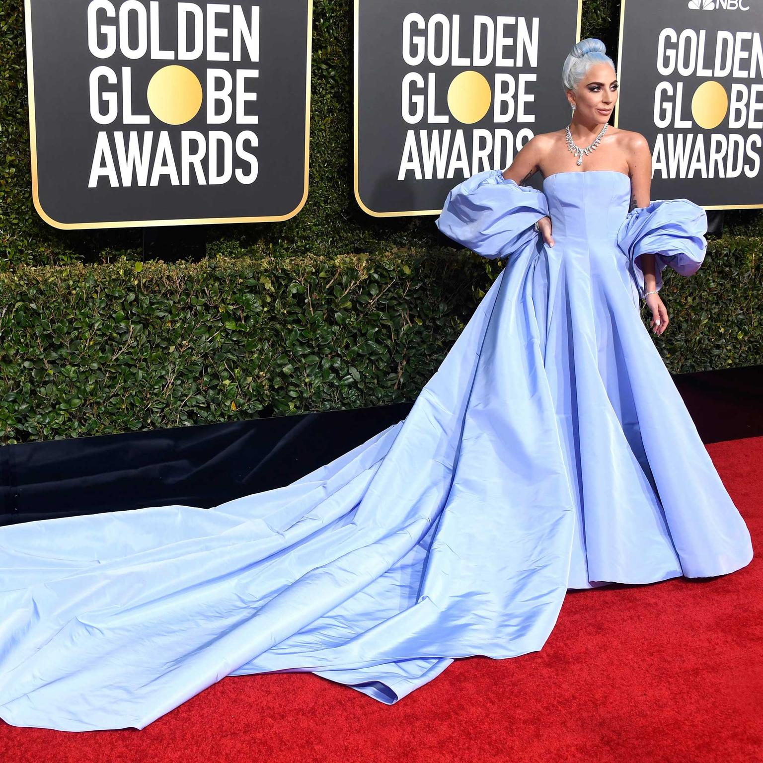 Lady Gaga Tiffany diamonds Golden Globes 2019