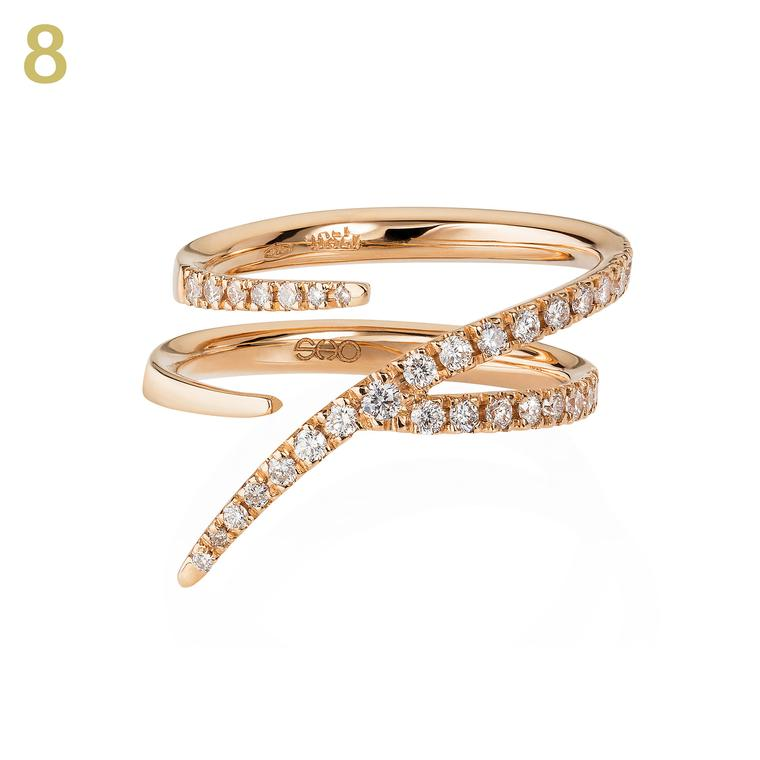 Sarah Ho Numerati gold and diamond ring
