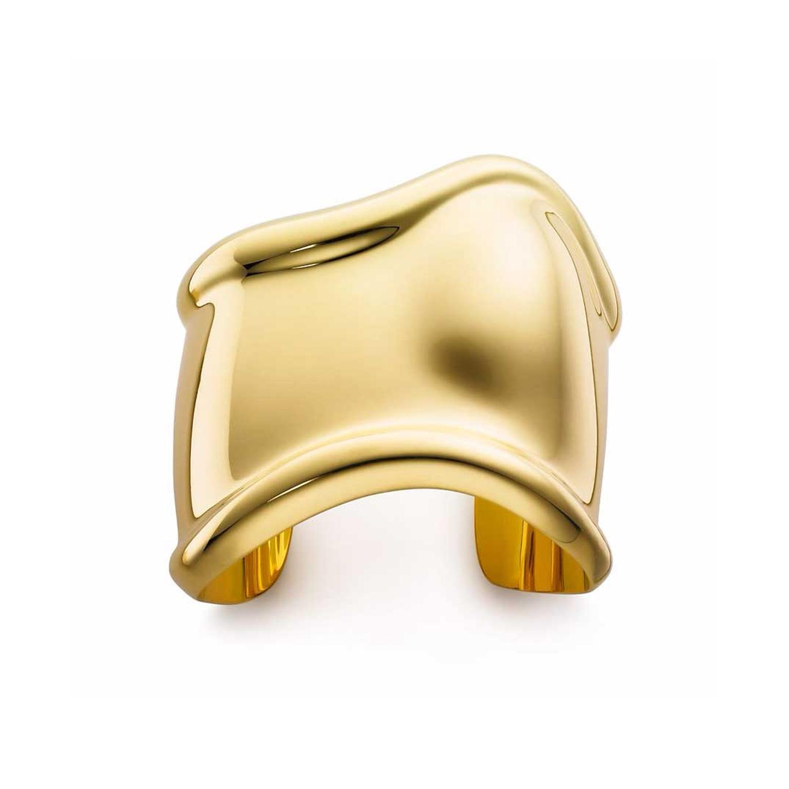 Elsa Peretti for Tiffany yellow gold Bone cuff