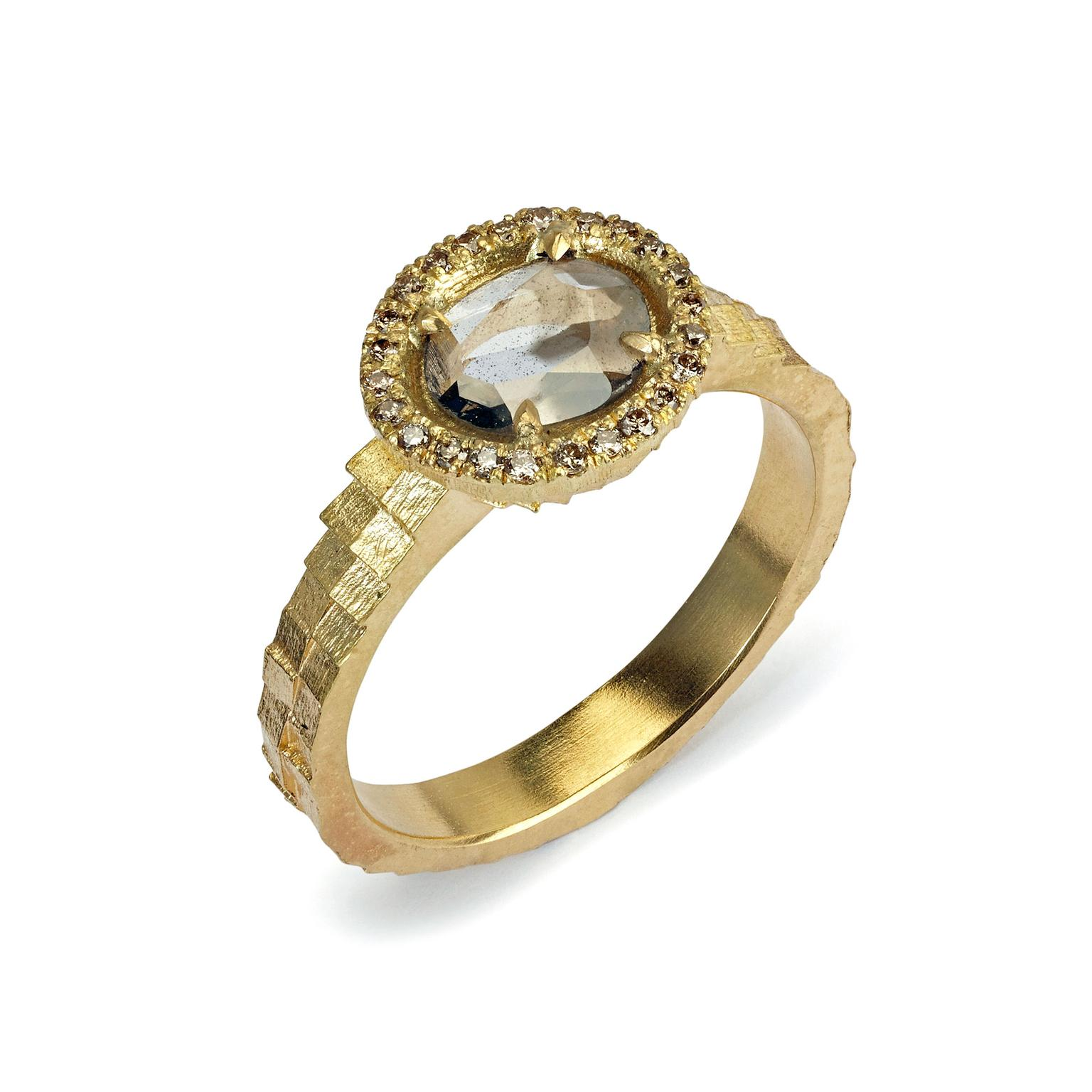 Jo Hayes Ward diamond slice ring