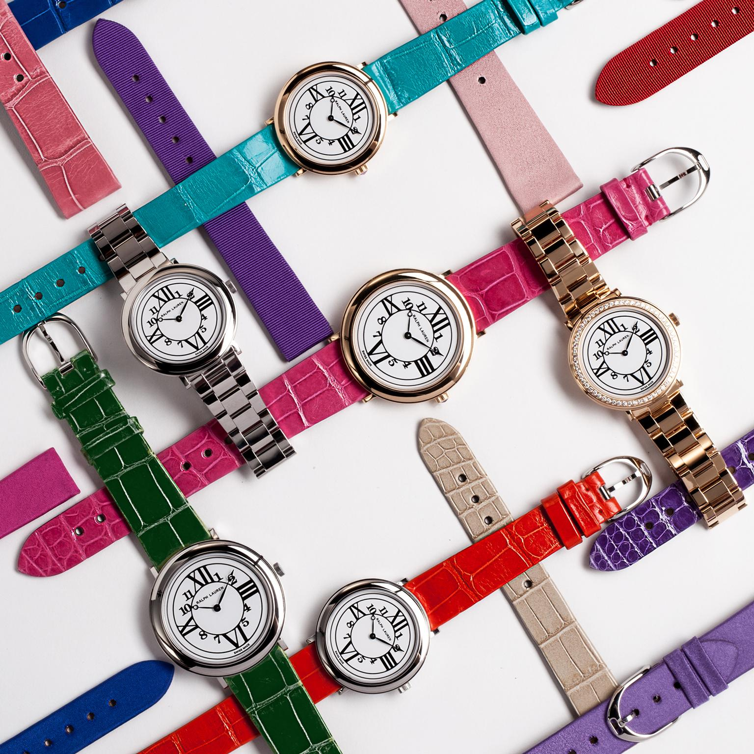 Ralph Lauren RL888 watches with multi-coloured straps