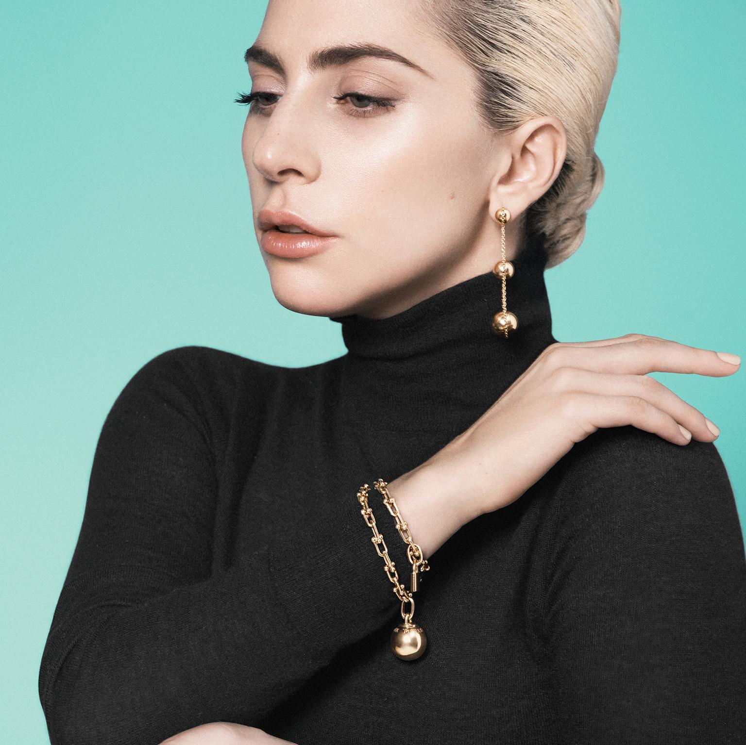 Lady Gaga models Tiffany City HardWear