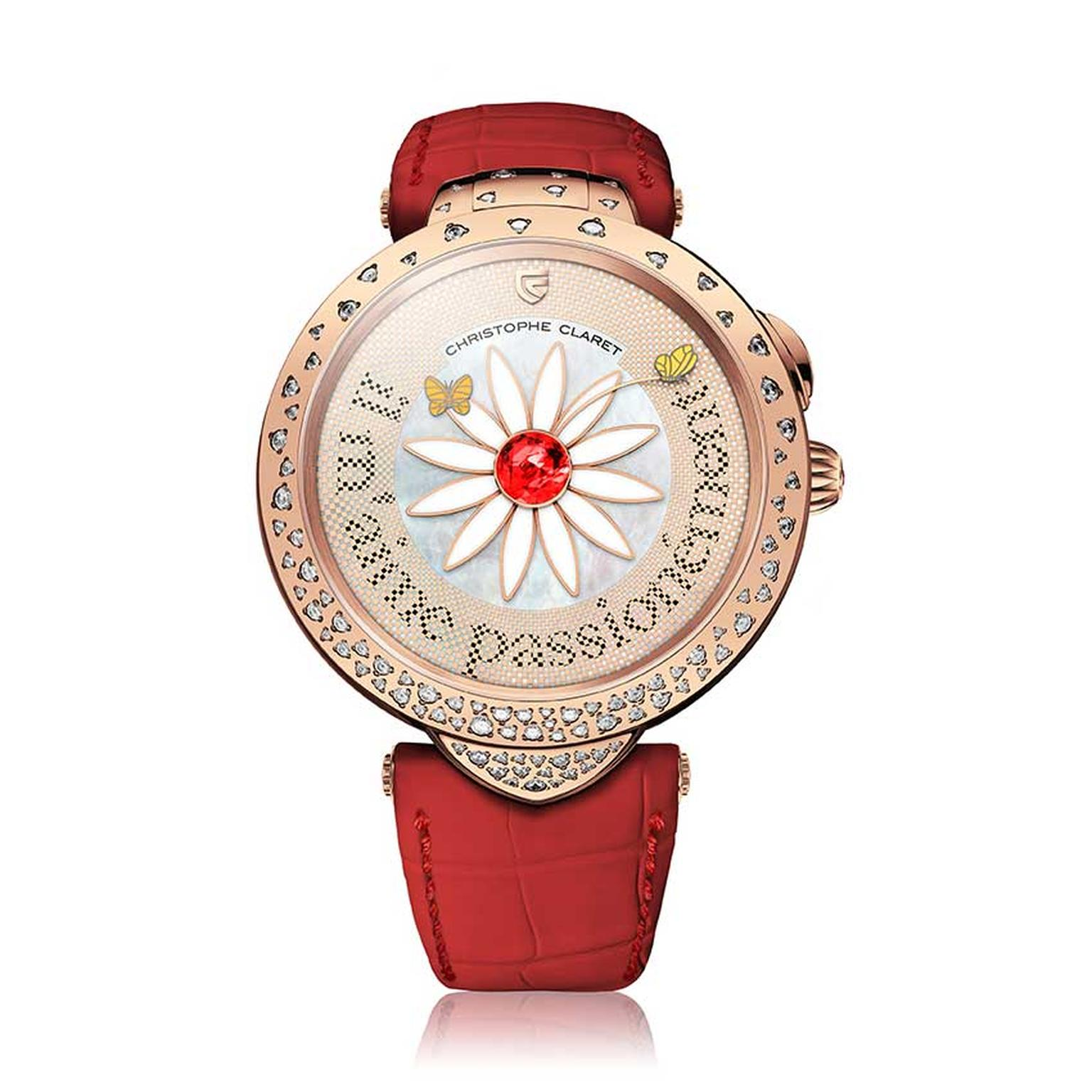 Christophe Claret Marguerite ladies' watch in red