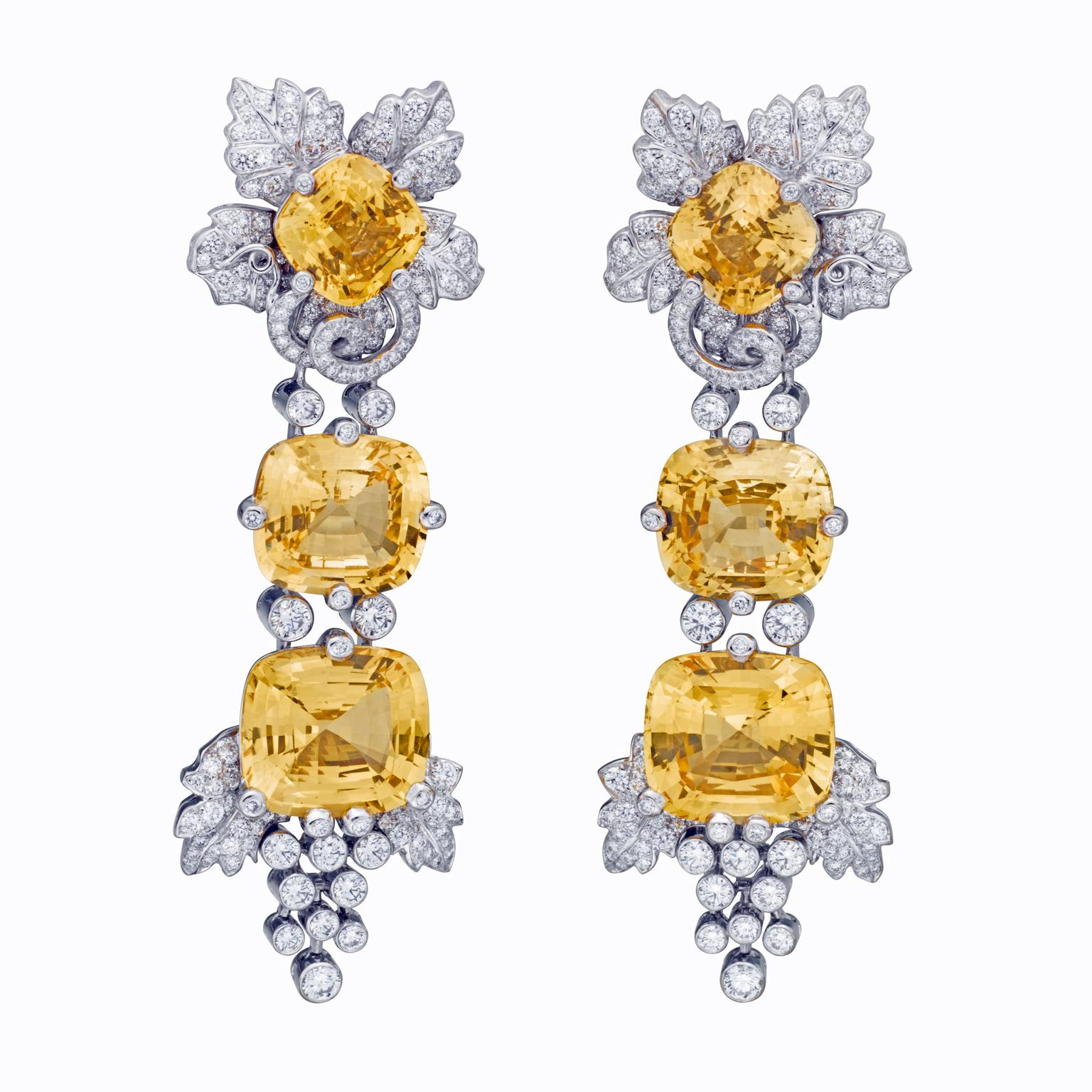 Van Cleef & Arpels Irene Sri Lankan sapphire and diamond earrings