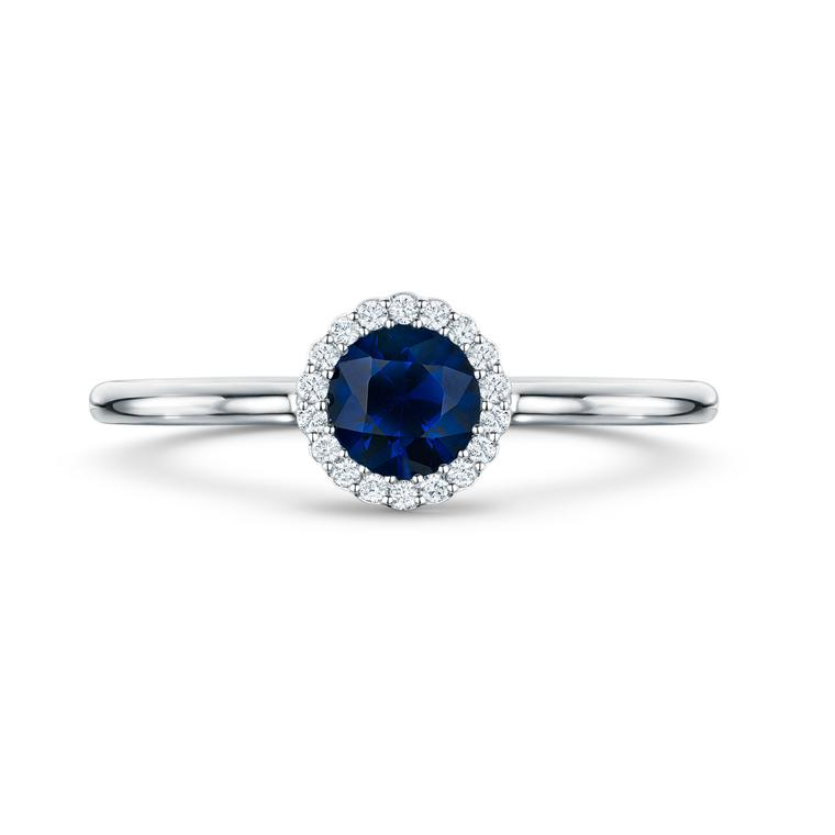 Andrew Geoghegan Cannele blue sapphire engagement ring