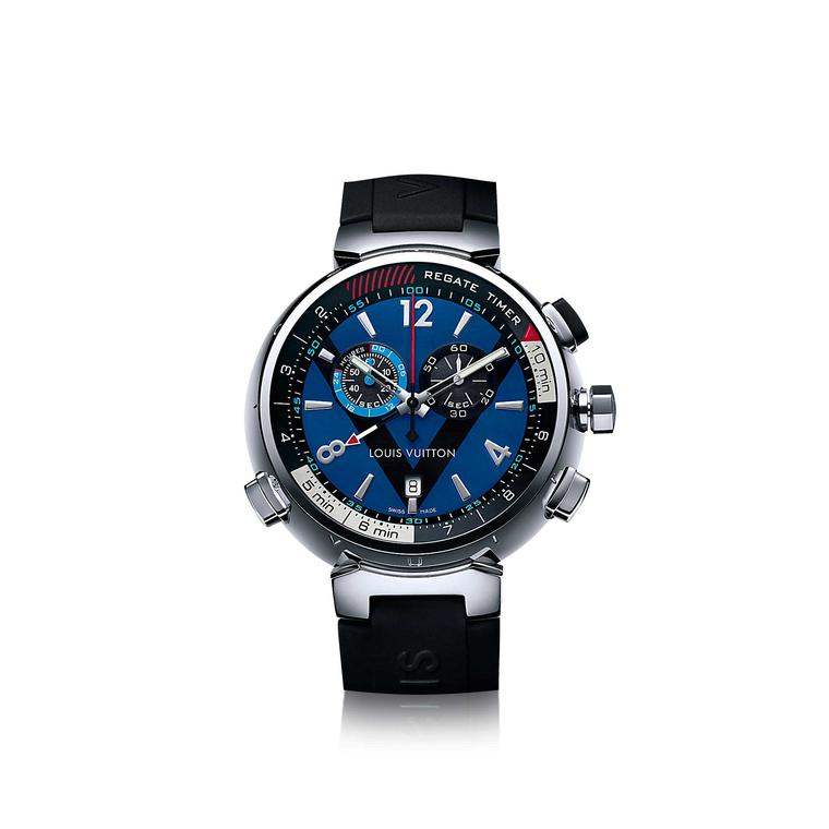 Louis Vuitton Tambour Regatta Navy 44mm watch in stainless steel