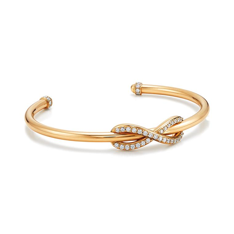 Tiffany gold and diamond Infinity cuff