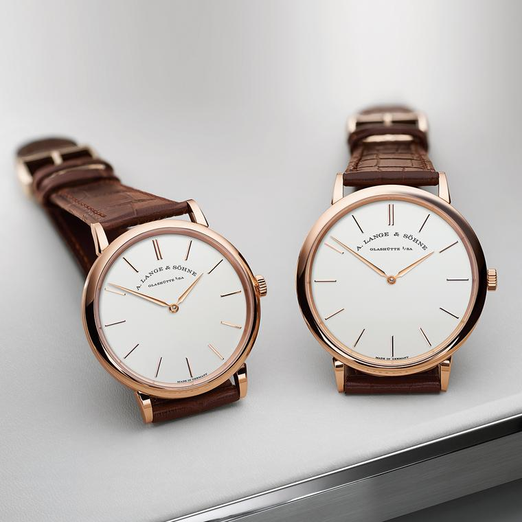 Saxonia Thin 37mm watch in pink gold